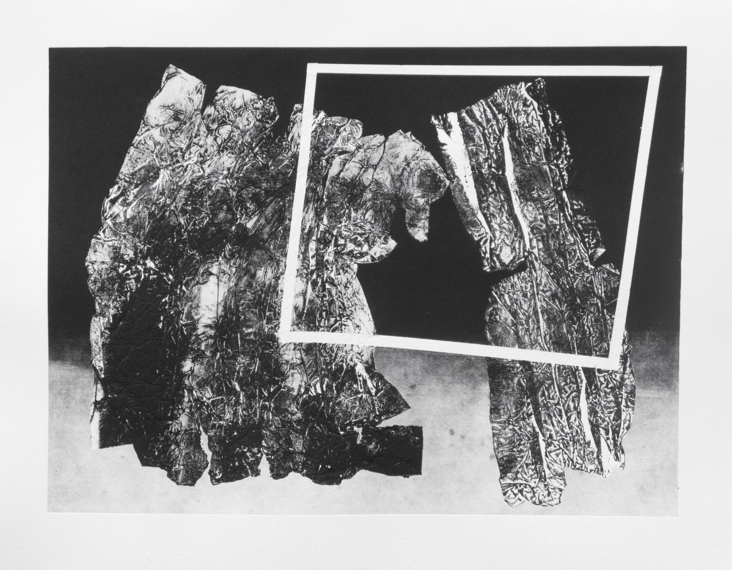 Forms on black 22 (32cm x 26 cm)