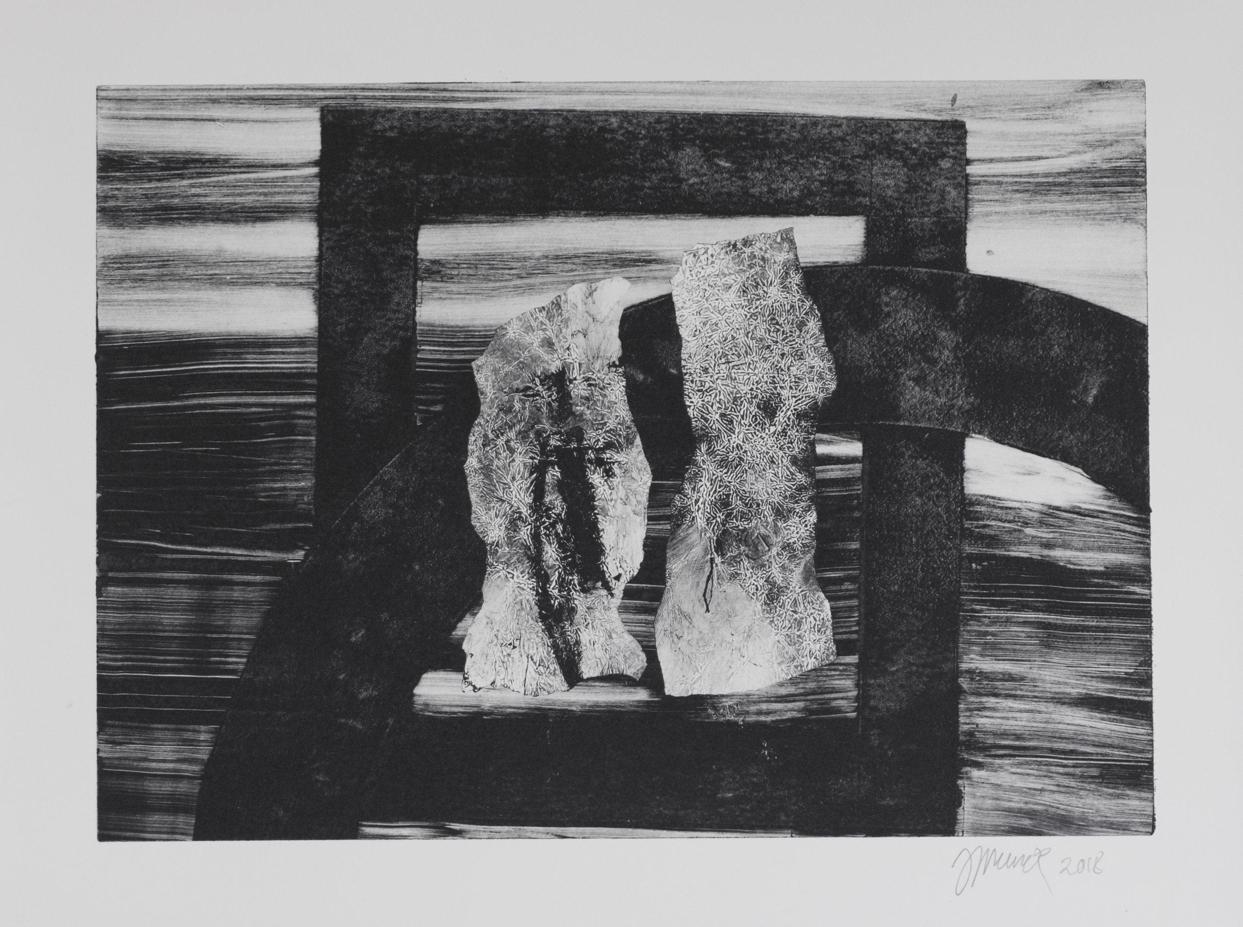 Forms on black 5 (34 cm x 24 cm)