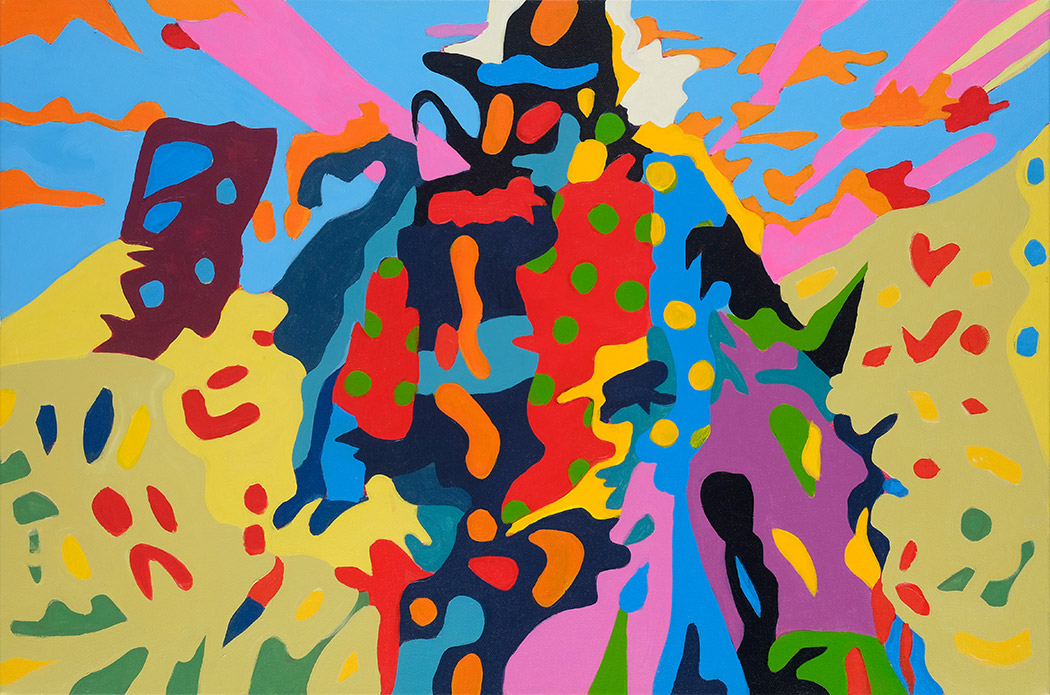 Deconstructed Spaghetti Western  24x36 inches Acrylic on canvas