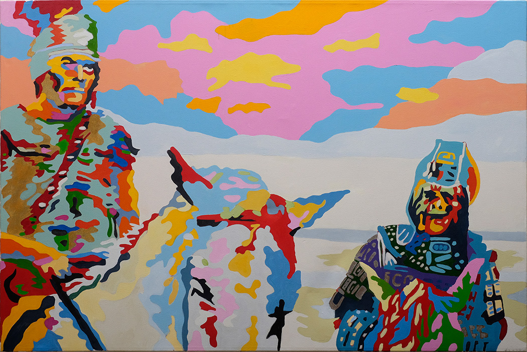 Son of Ape City, Slave of Rome  48x72 inches Acrylic on canvas
