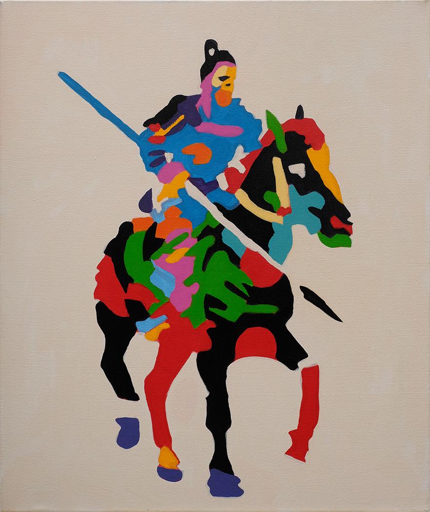 Tempo Do Masacro  24x18 inches Acrylic on canvas