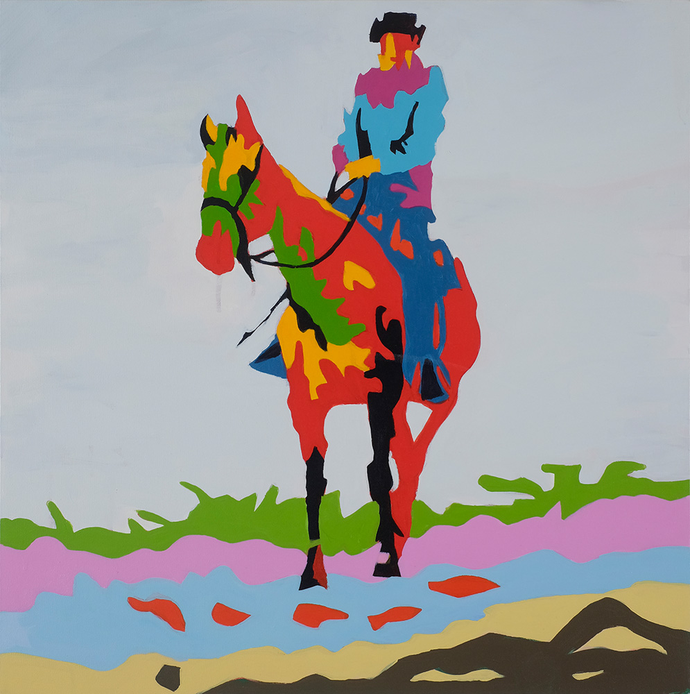 Corral  18x24 inches Acrylic on canvas