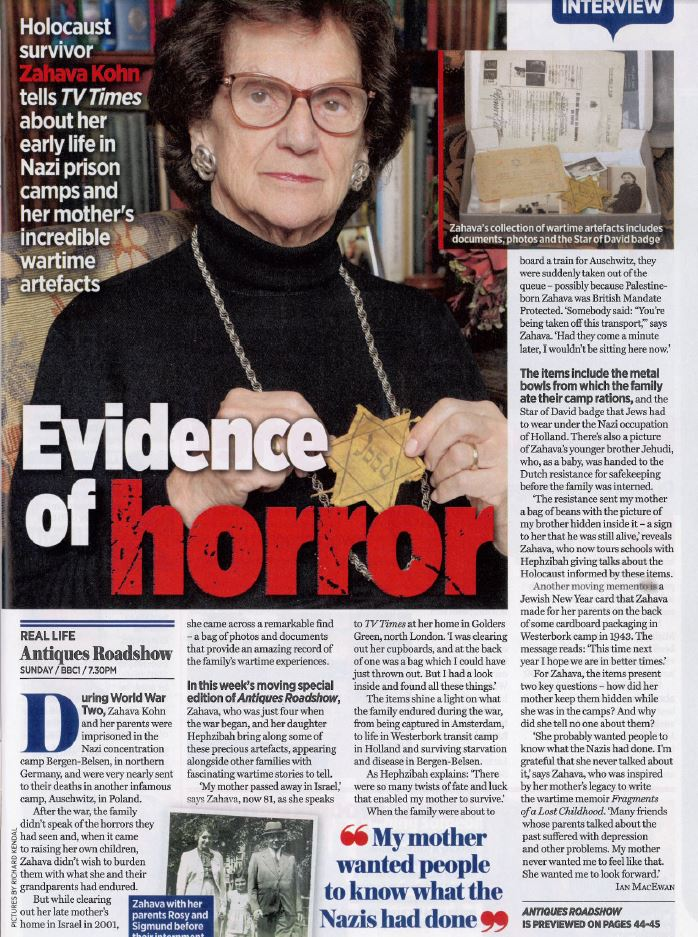 The article featured in TV Times
