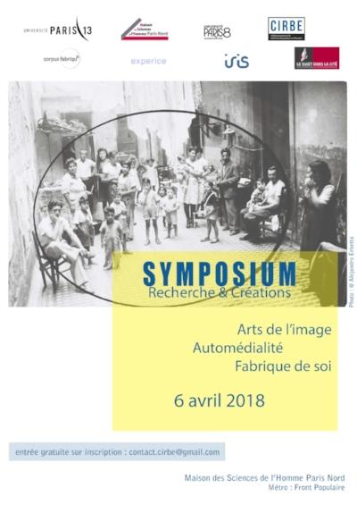 6 avril 2018Participation au symposium de recherche et Création