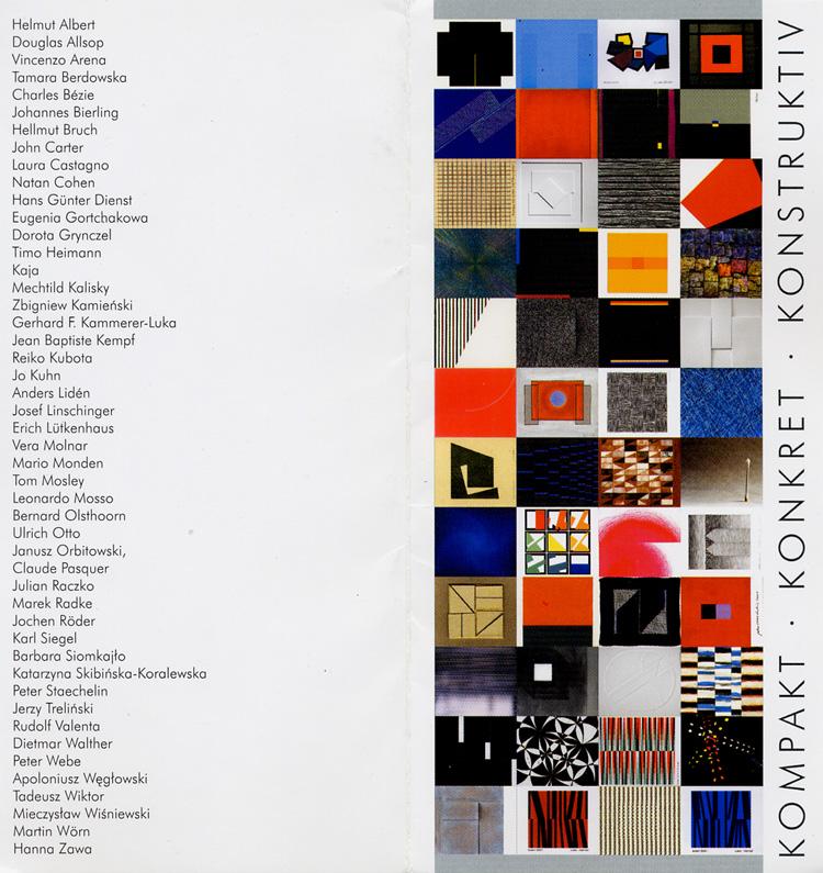 2002 'Kompakt, Konkret, Konstruktiv'   Galerle Sztuki Wspolczesnej MNS; Museum Narodowego, Szczecin, POLAND