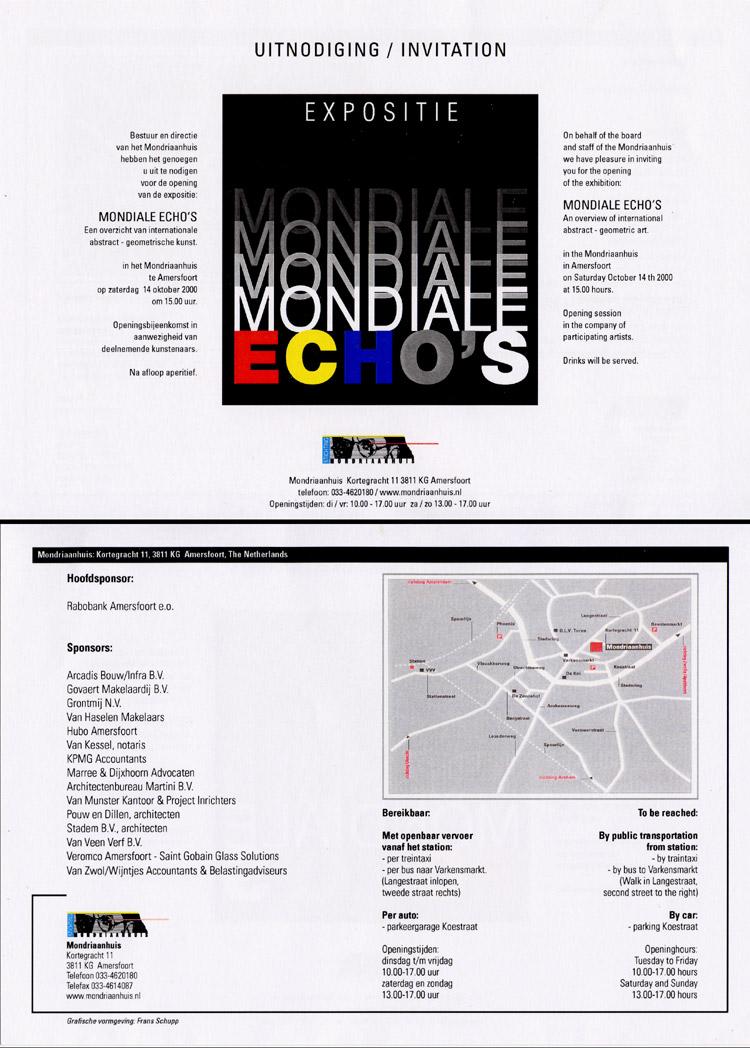2000 Mondiale Echo's   Mondriaanhuis, Amersfoort, HOLLAND