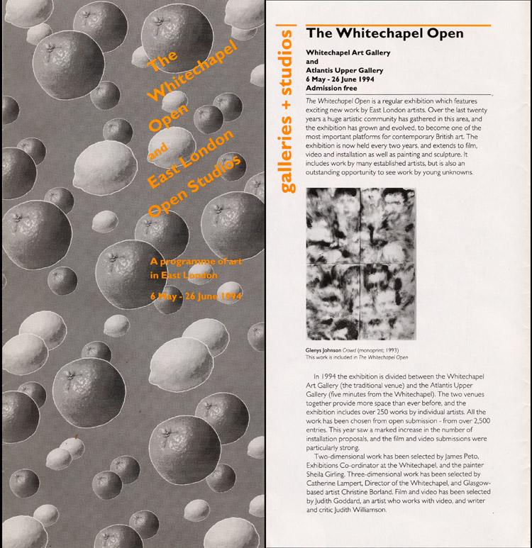 1994 'Whitechapel Open'   Whitechapel Art Gallery, London, UK
