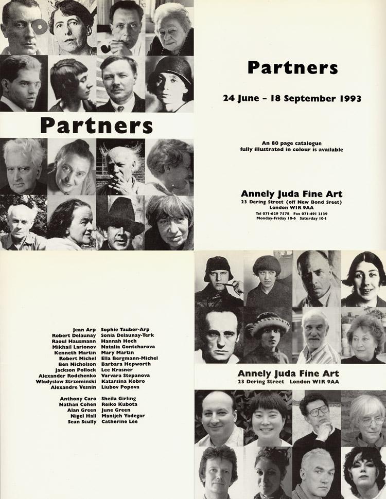 1993 'Partners'   Annely Juda Fine Art, London, UK