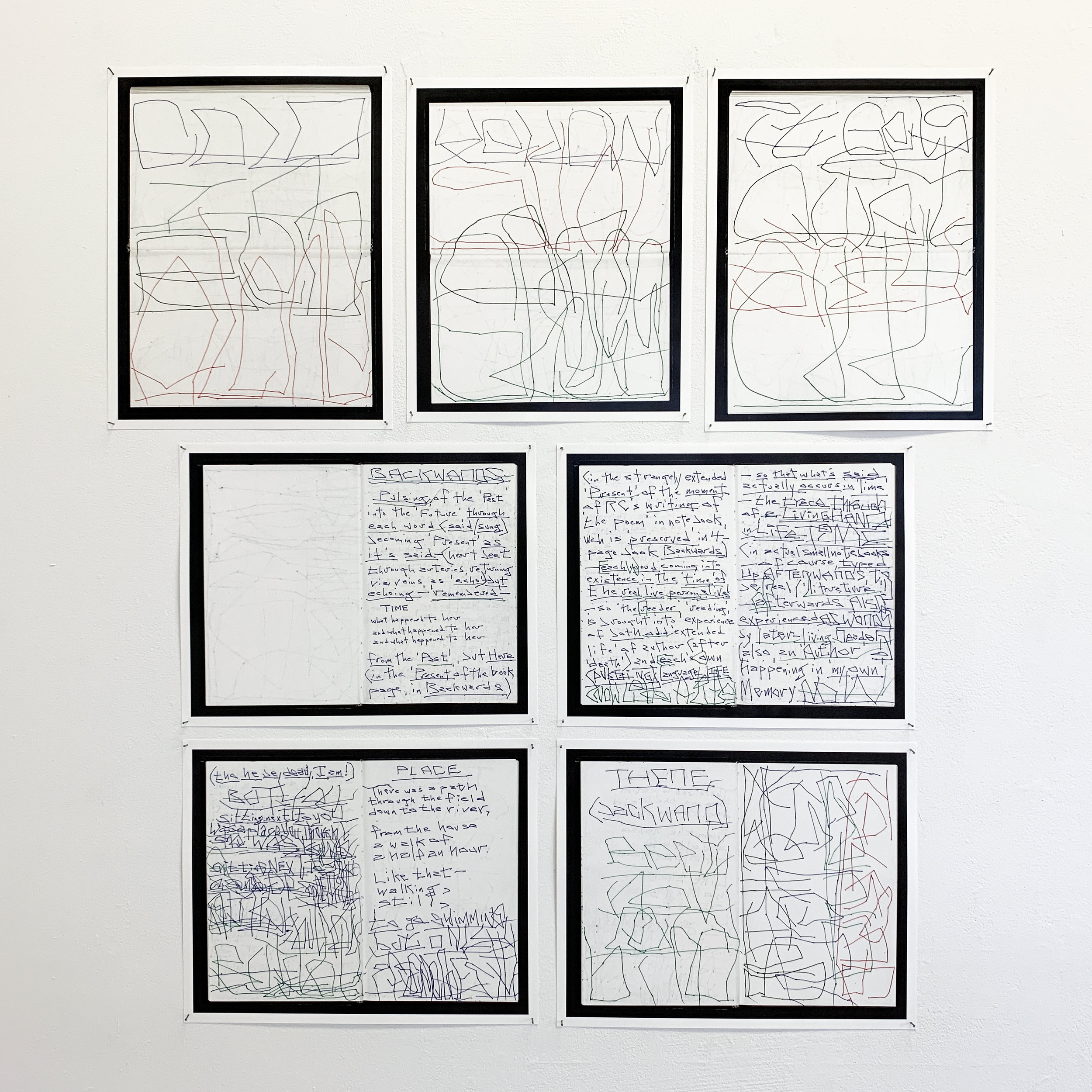 "Robert Grenier; a selection of pages (scanned and printed) from his notebooks of ""drawn"" poems, 2003-2005; in the collection of the Columbia Rare Books and Manuscripts Library"