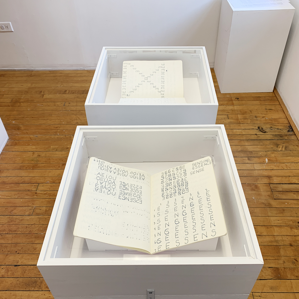 Christine Heindl; notebooks, ca. 2017; collection of the artist