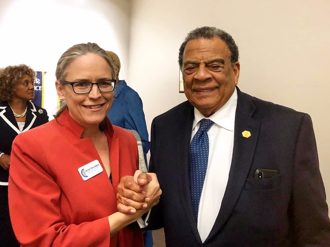 """- """"I have known Carolyn for 15 years, and I have seen her effective, focused leadership first-hand. She has been a senior policy advisor for state and federal government and is the most qualified candidate running. We need people like her advocating for us and making change in Washington.""""Andrew YoungFormer United States Ambassador and 55th Mayor of Atlanta"""