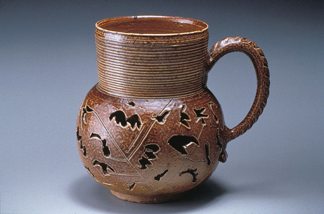 James Morley double-walled mug, c1700, Nottingham