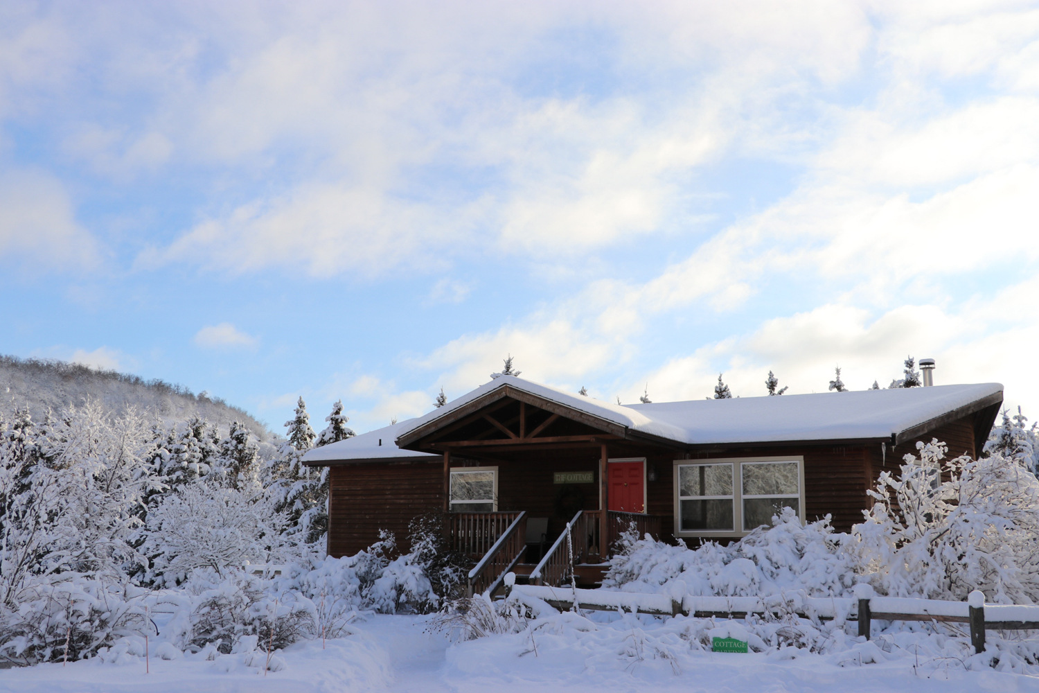 The Journey Inn During a Winter Snow