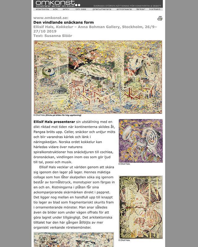 Läs om Ellisif Hals utställning på Omkonst #ellisifhals #omkonst (link in bio)