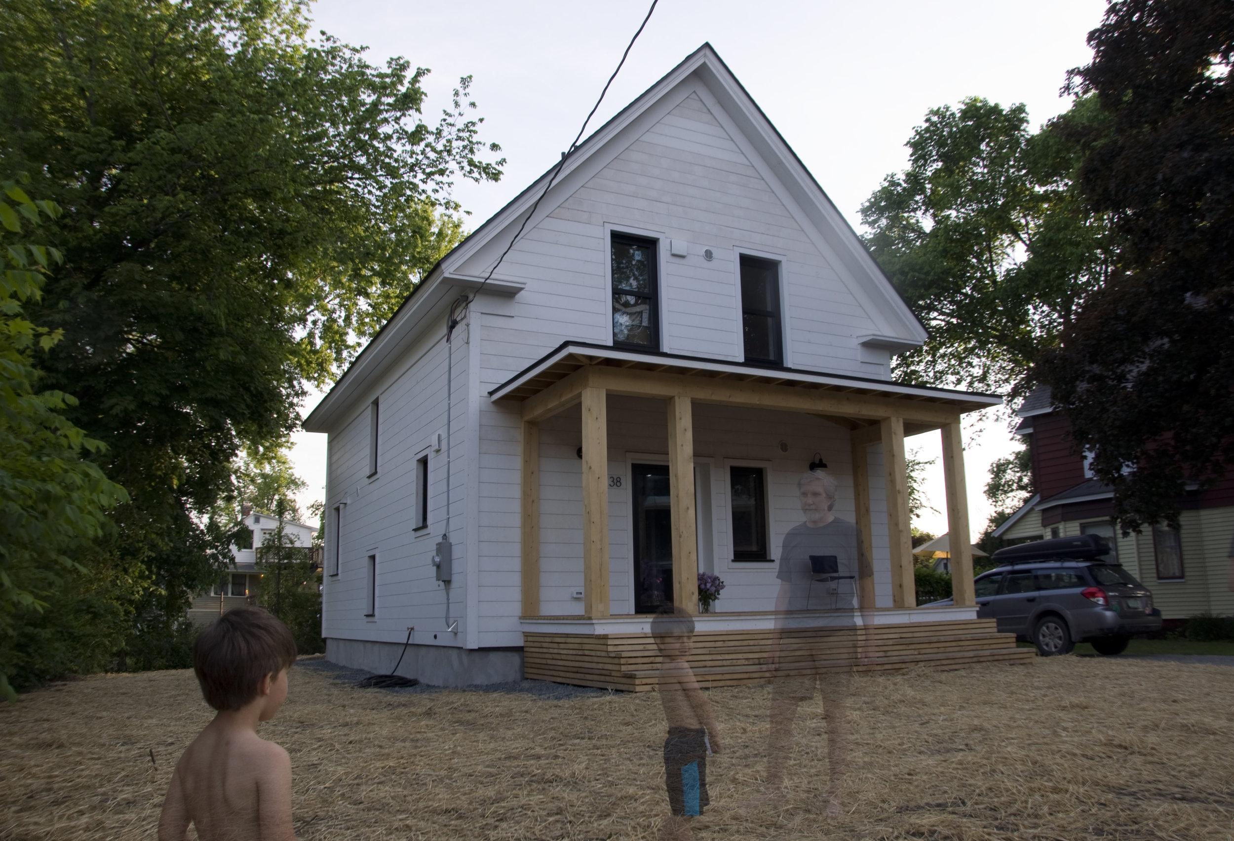 New Modern Compact Farmhouse in a suburban environment.