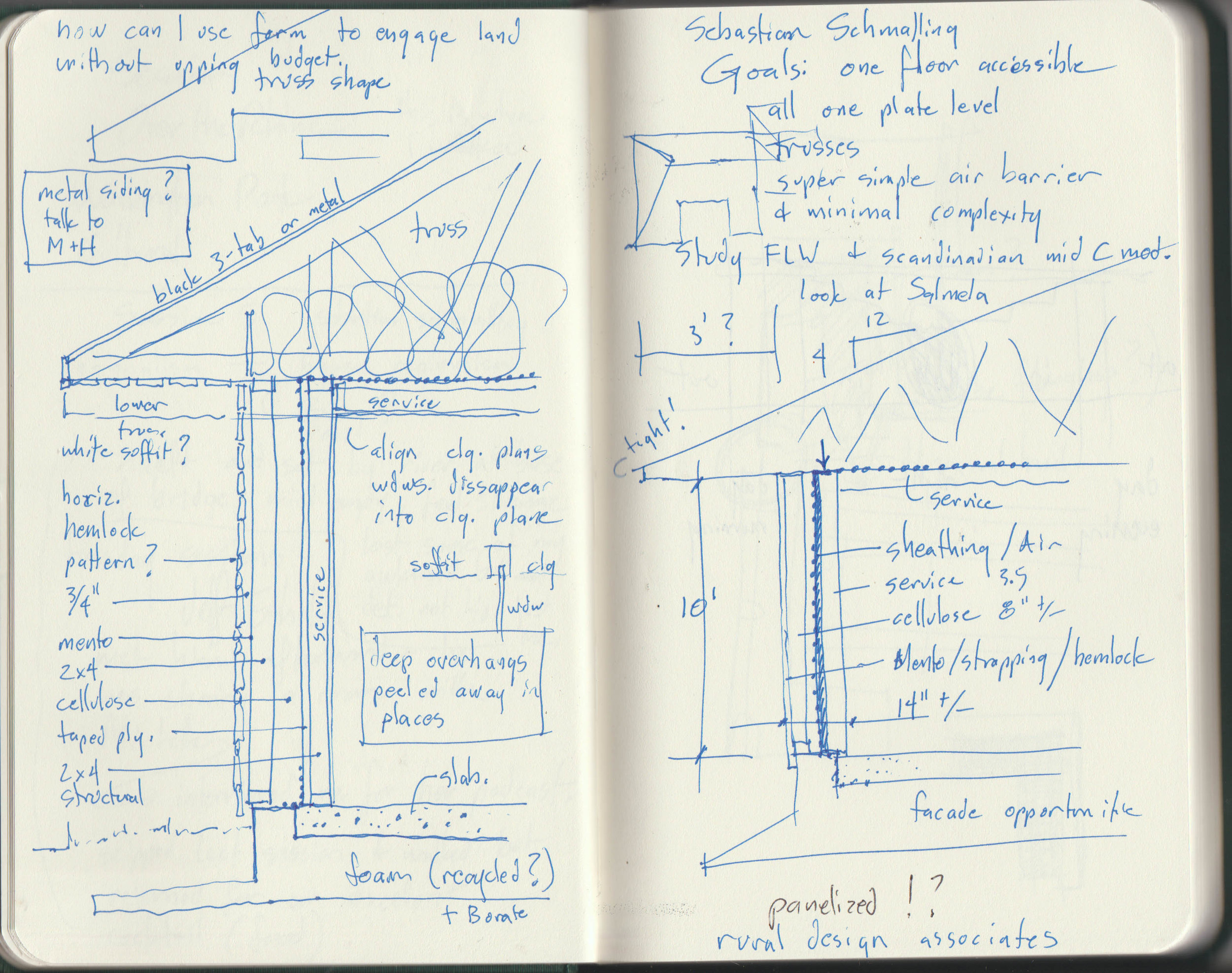 Wall section sketch