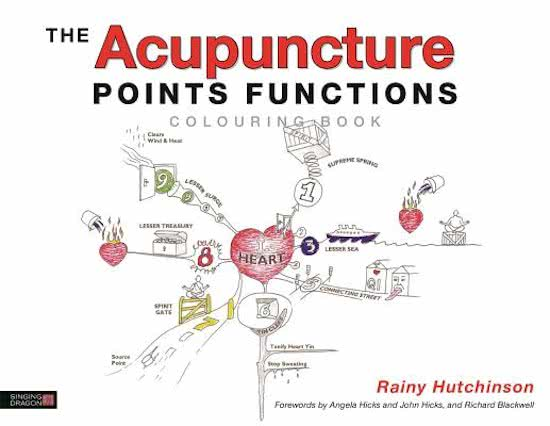 Acupuncture Points Functions Colouring Book - Cover