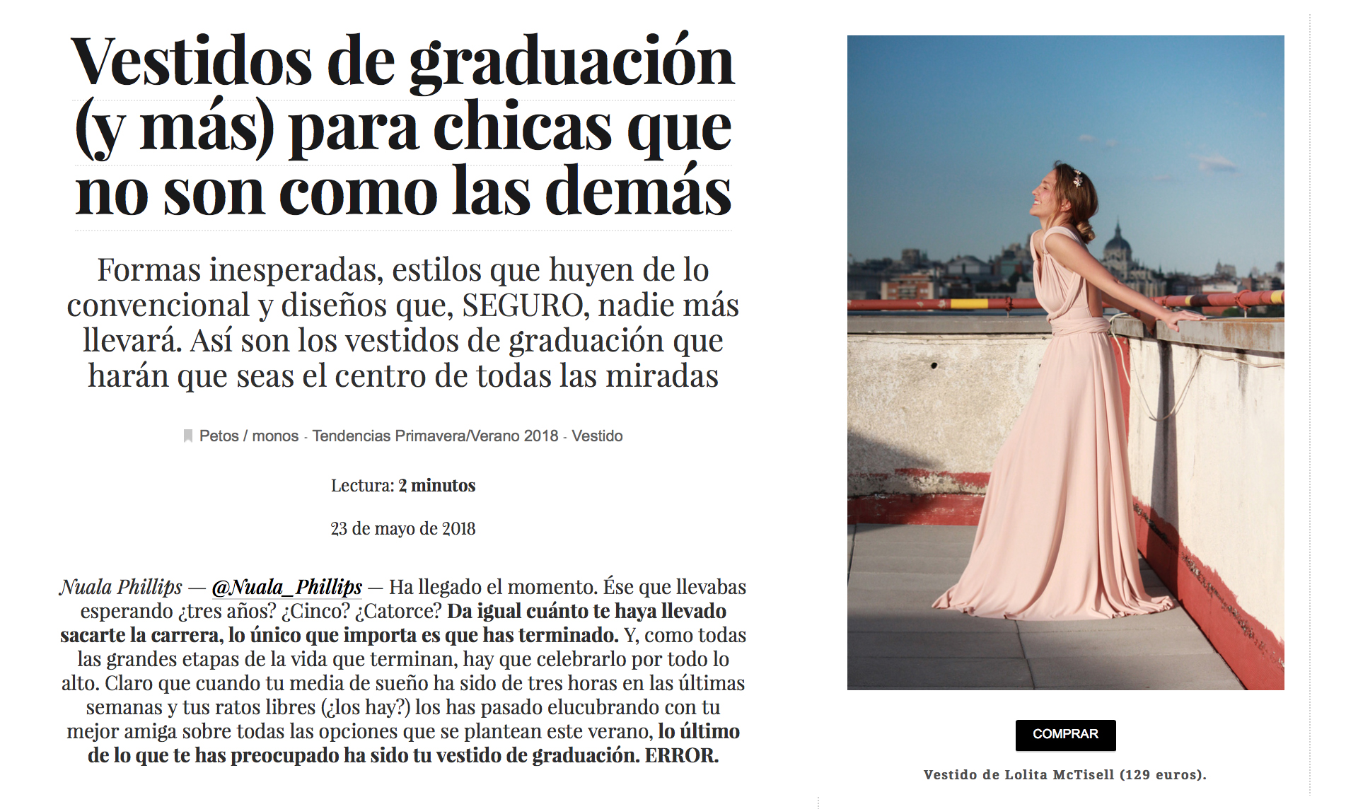 Lolita McTisell recomendada por VOGUE.es