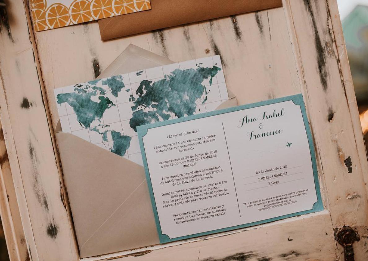 Invitación Choco and Mint Design