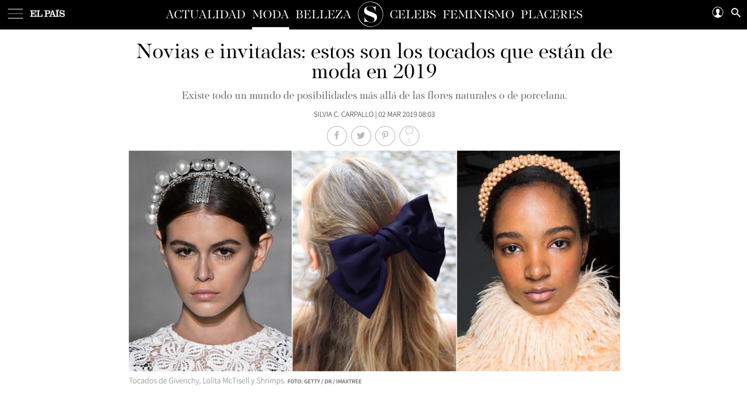 Lolita Mctisell en S Moda - Tendencias de tocados para novias e invitadas