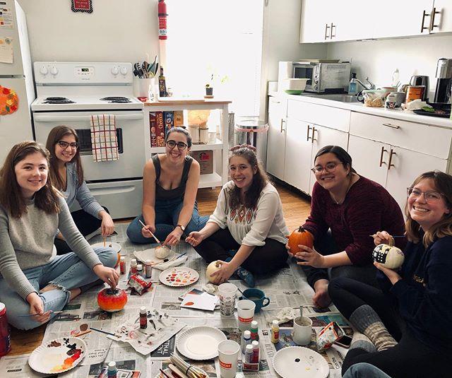 Decorating pumpkins with the #membership team!! #DemsDoingThings