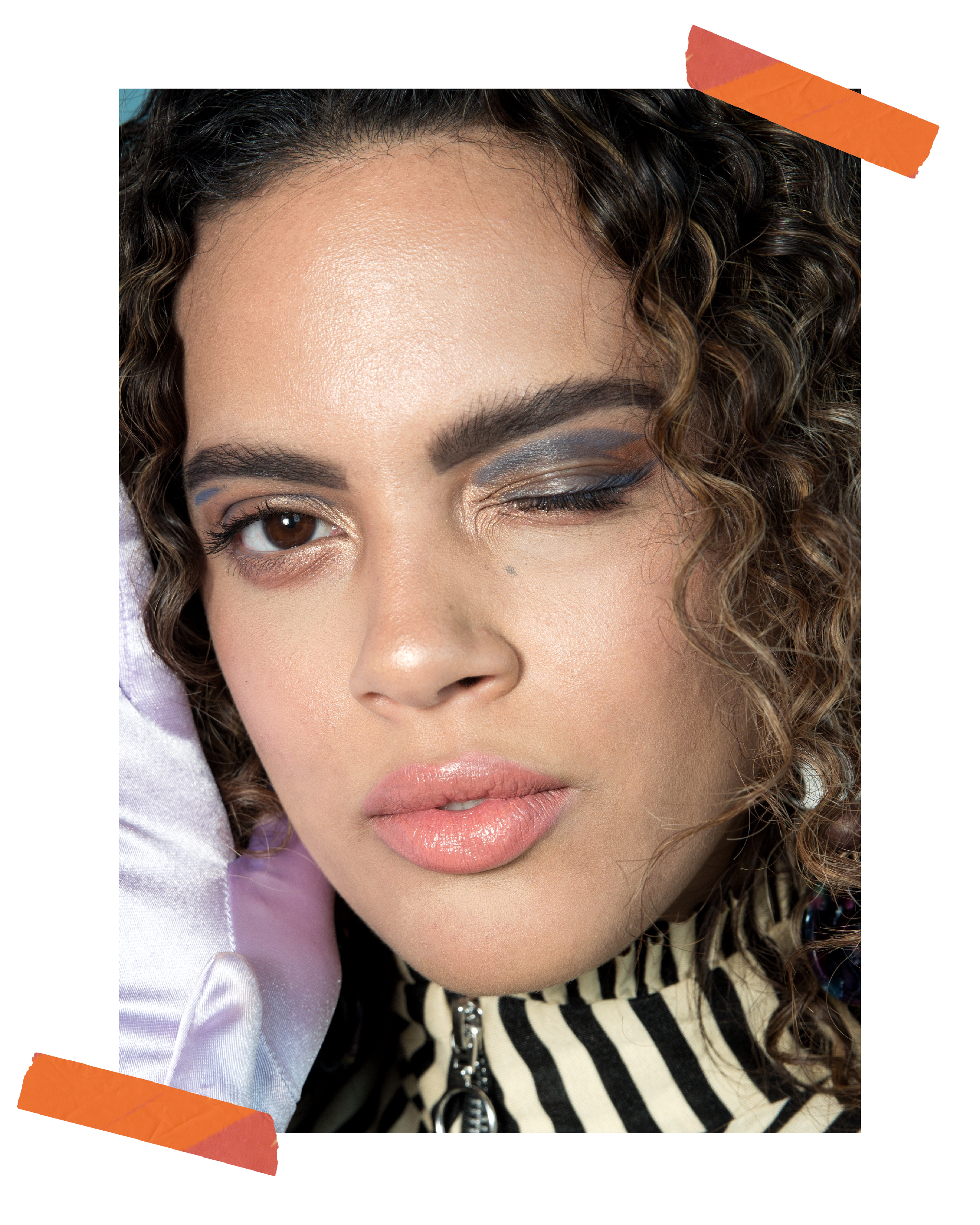 """Gabi wears a peach lip from Nyx and Marc Jacobs Highliner pencil in """"Irony"""""""