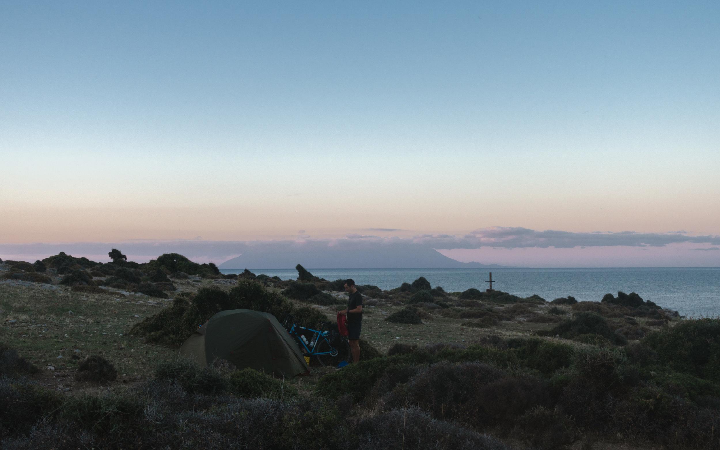 Wild camp, Greece