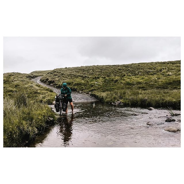 Not quite brave enough to ride the river. Desert of Wales, inspired by @panniercc | 25.06 . . . . #twobiketo #desertofwales #ridewales #bikewander #wetfeet #worldbybike #optoutside #rentalmag #thehappynow #verybusymag #capturequiet #outsideisfree #cyclingshots #checkoutthisload #welltravelled #worldbycycling #dventurecycling #bikepacking #bikeadventure #roadslikethese #riverride #walesbybike #getoutside #cambrianmountains #elanvalley #touringroadslikethese