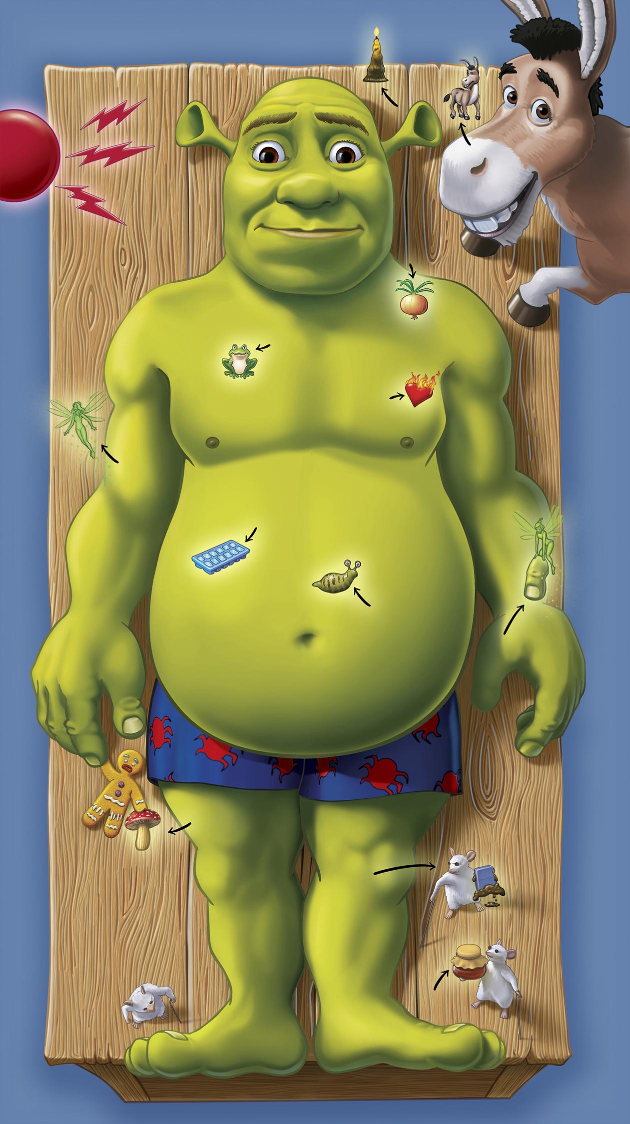 Shrek Operation Gameboard