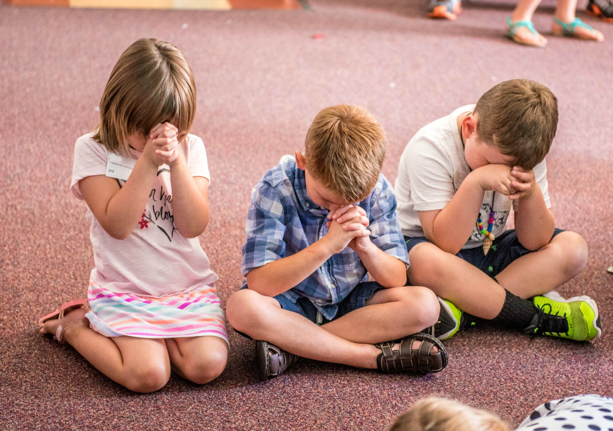 Preschool (ages 3-5) - Preschool consists of children ages 3-5. We value active play where the Bible is taught through engaging stories, activities, and fun worship songs with motions and movement.