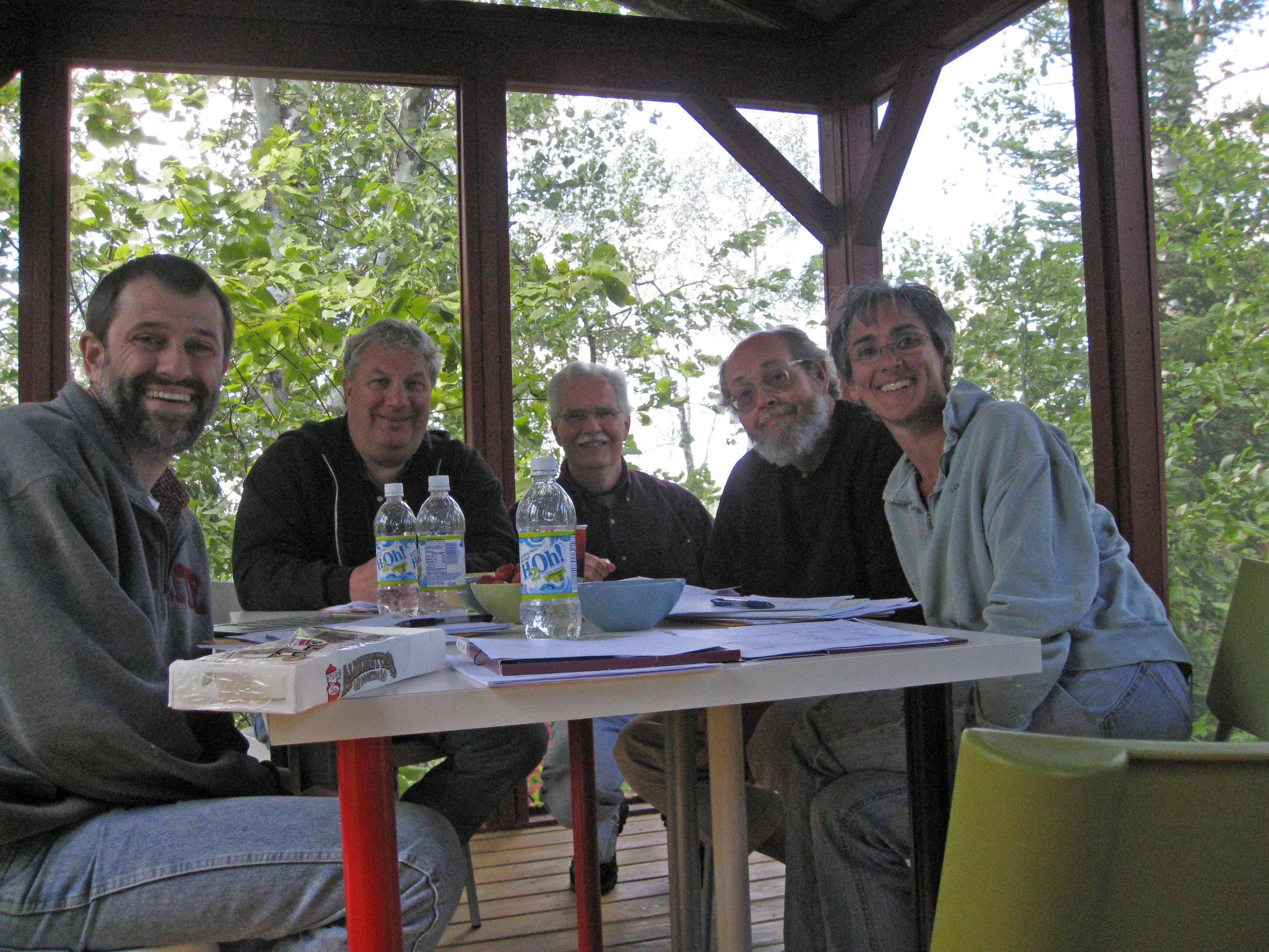 The First Board Meeting in Osprey 2009                                 John Warren, Rick Clark,Bob Manning, Jeffrey Hatcher and Liz