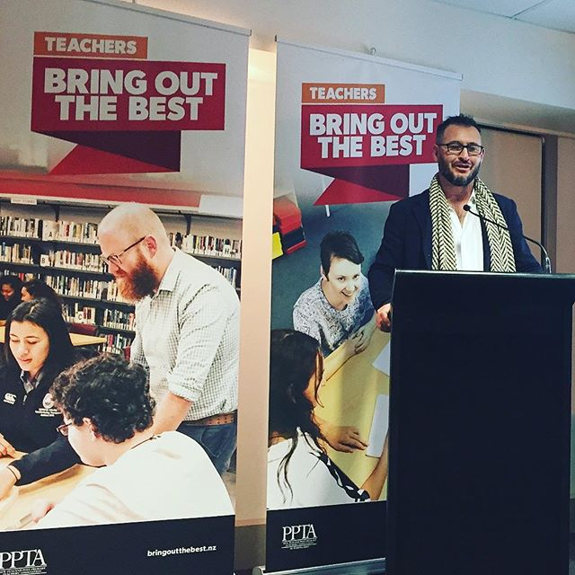 After months of meetings and emails and design we're at the PPTA Bring out the Best campaign launch! It's very rewarding to see our design being used for such a great cause. Cheers PPTA.  #bringoutthebest #teachers #newzealand #graphicdesign #ppta #branding #Wellington #lovedesign