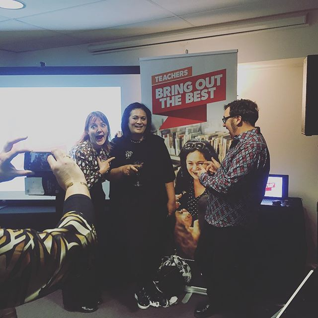 People doing what they supposed to in front of one of our stand up banners at the PPTA Bring Out The Best campaign launch. Selfie time 📸😎 #bringoutthebest #graphicdesign #Wellington #Wellingtondesignstudio #teachers #newzealand