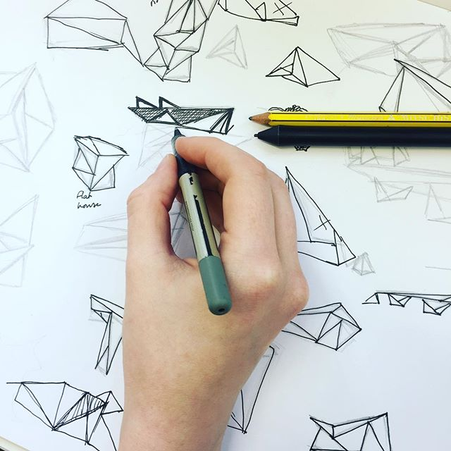 Scenario places emphasis on designers using a pen and pad before they jump on a computer. This is where great ideas are born. Here is Hannah doing design good. #design #graphicdesign #Wellington #illustration #ideas #creativity #NewZealanddesign #drawing #ink #process #concepts