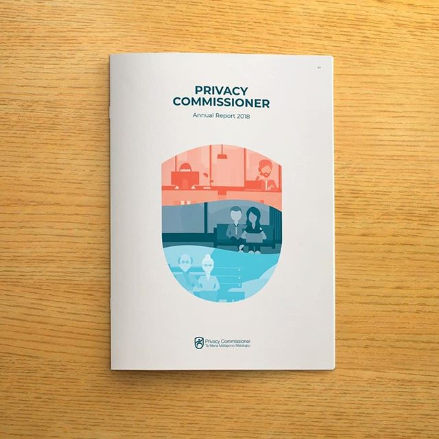 Excited to share our recent design for the Privacy Commissioner's 2018 Annual Report. - #dataprotection #annualreport #printdesign #illustration #annualreportdesign #creativestudio #nzprivacy