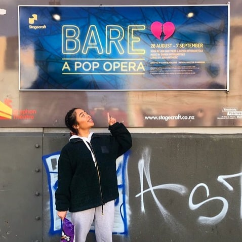 Spotted around Wellington, BARE a pop opera. We always love designing for Stagecraft productions and love their impromptu street shots even more!  Thanks for the snaps guys!  BARE a pop opera opens August 28th - @stagecraftnz @stacey.dalziel #design #threatre #wellingtonnz #nztheatre #drama #bare #opera #designagency #love #streetshots #strikeapose #posterdesign