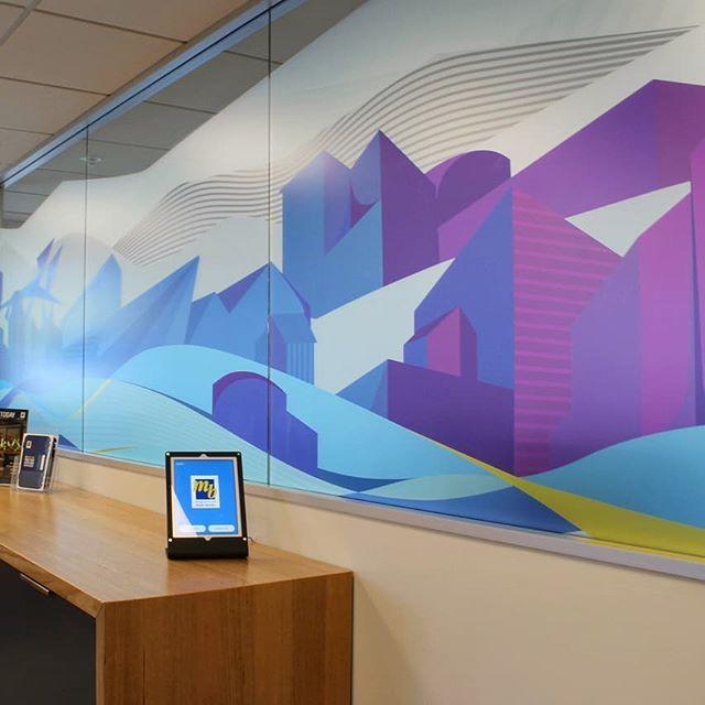 A sneak peak into our recent designs at the Master Builders office. -  #interiordesign #officefitout #officedesign #illustration #design #designagency #wellington #colourpop #cityscape #landscape #build #scenario #graphicdesign