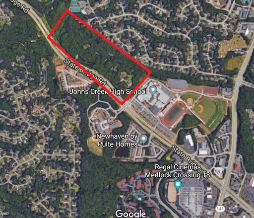 Heavily wooded area where development requests were proposed