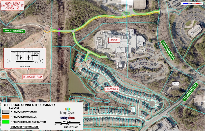Bell Road to Johns Creek Parkway - Concept 1