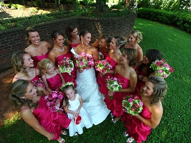 Backyard Bridal Party | Photo provided by  Blue Bend Photography