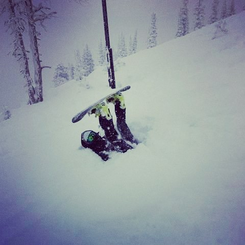 Opening day at Targhee Ski Resort. No friends on powder day!