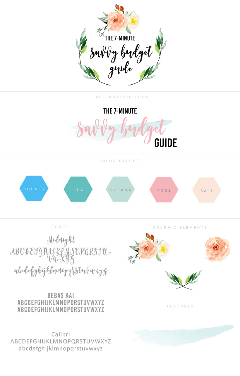 Logo Package for Savvy Budget Guide