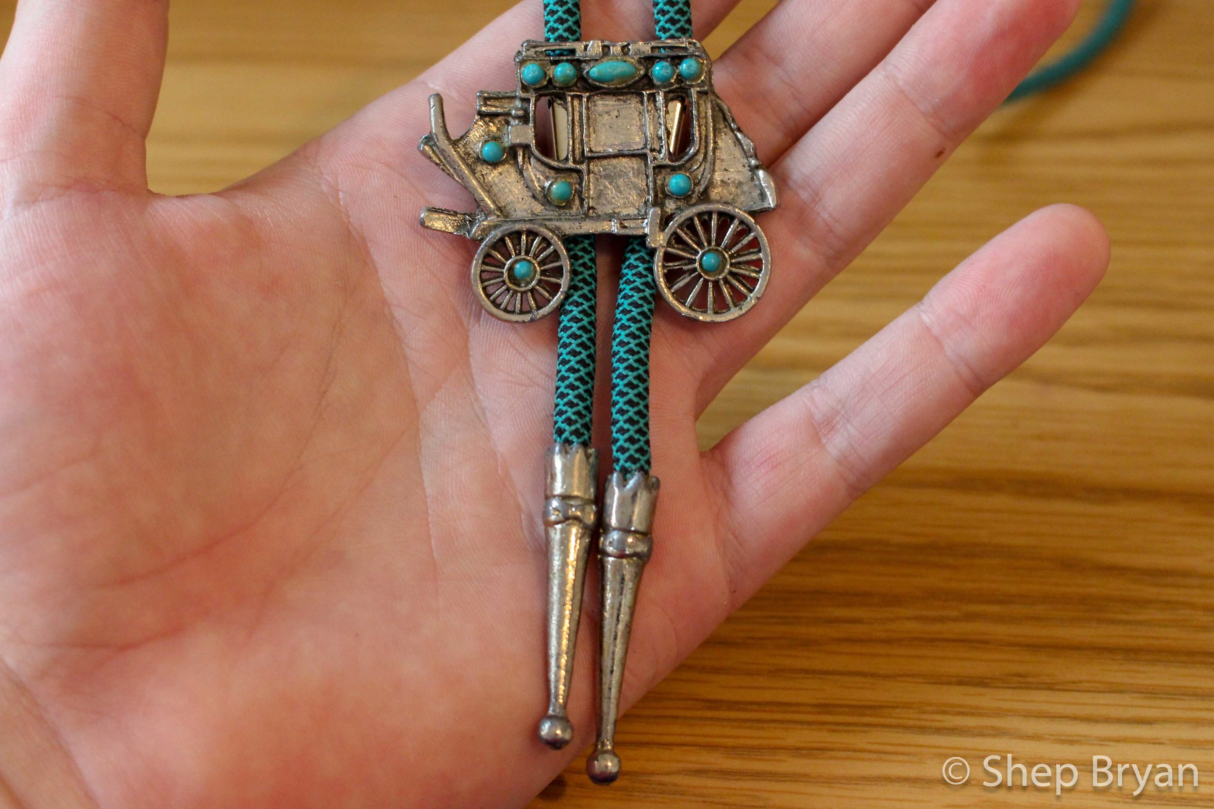 Repairing a vintage bolo tie - the finished product