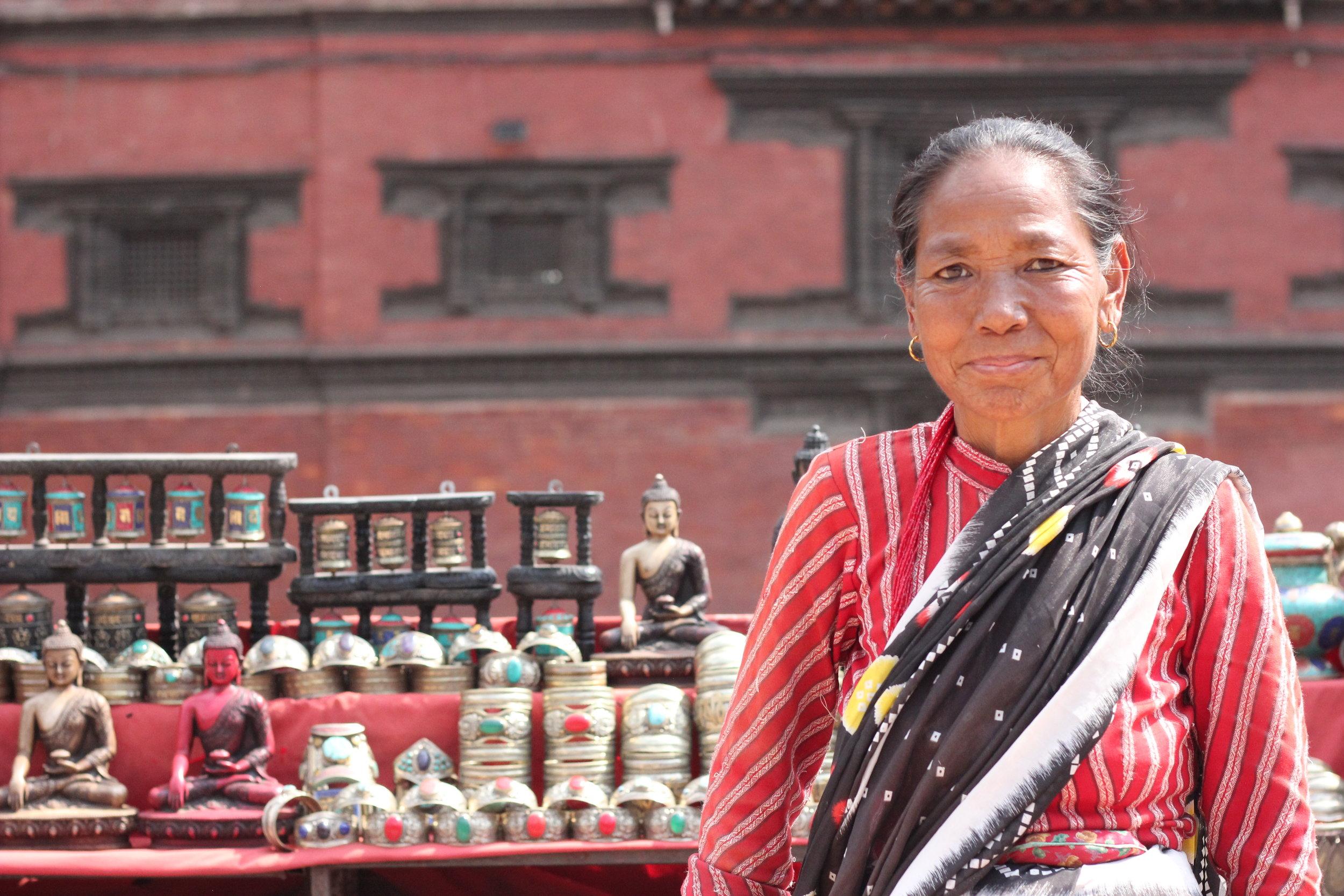 Nepali Vendor in Patan Durbar