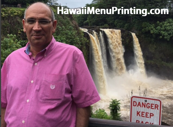Owner of Hawaii Menu Printing  - Chris Nunez