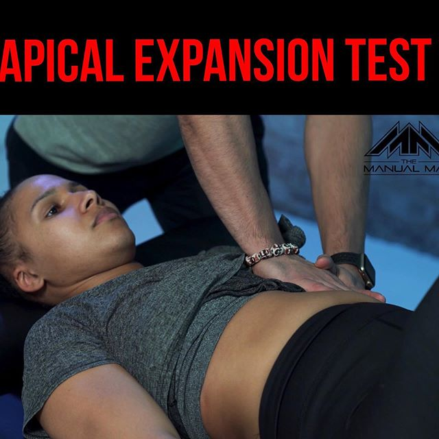 Apical Expansion Test for Right Anterior (Front) Shoulder Pain❗️ • • • Watch right chest EXPAND, then watch right arm DROP. The power of BREATHING is real people! • • • Ladies and gentlemen, we have to STOP GUESSING with our clients. We have to stop thinking we know what is best for them, instead of actually knowing it for certain. I'm not talking about seeing the future. I'm talking about assessing the right way, so that you know EXACTLY what you are dealing with. Too often Doctors and trainers alike make decisions within a subjective bubble. How about objectify it! Create a treatment/training paradigm that consists of progressions with SPECIFIC parameters. That way you know, for sure, which direction to take with each particular case. For me, this is that test, for Right anterior (front) shoulder pain. The apical expansion test. Bottom line: THINK OUTSIDE THE BOX.✌🏽