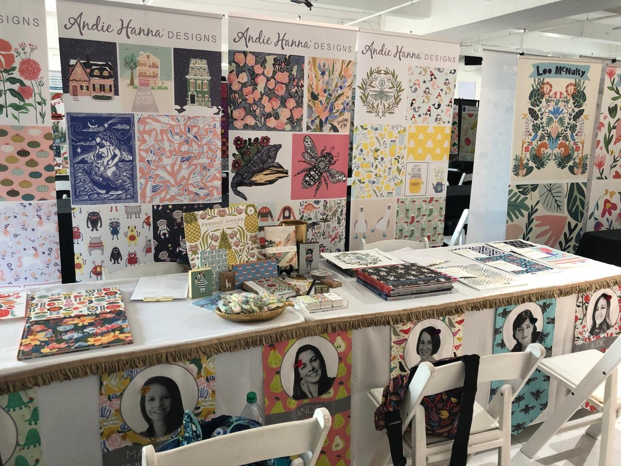 Andie Hanna booth at Blueprint Show 2019. Photo credit Andie Hanna 2019.