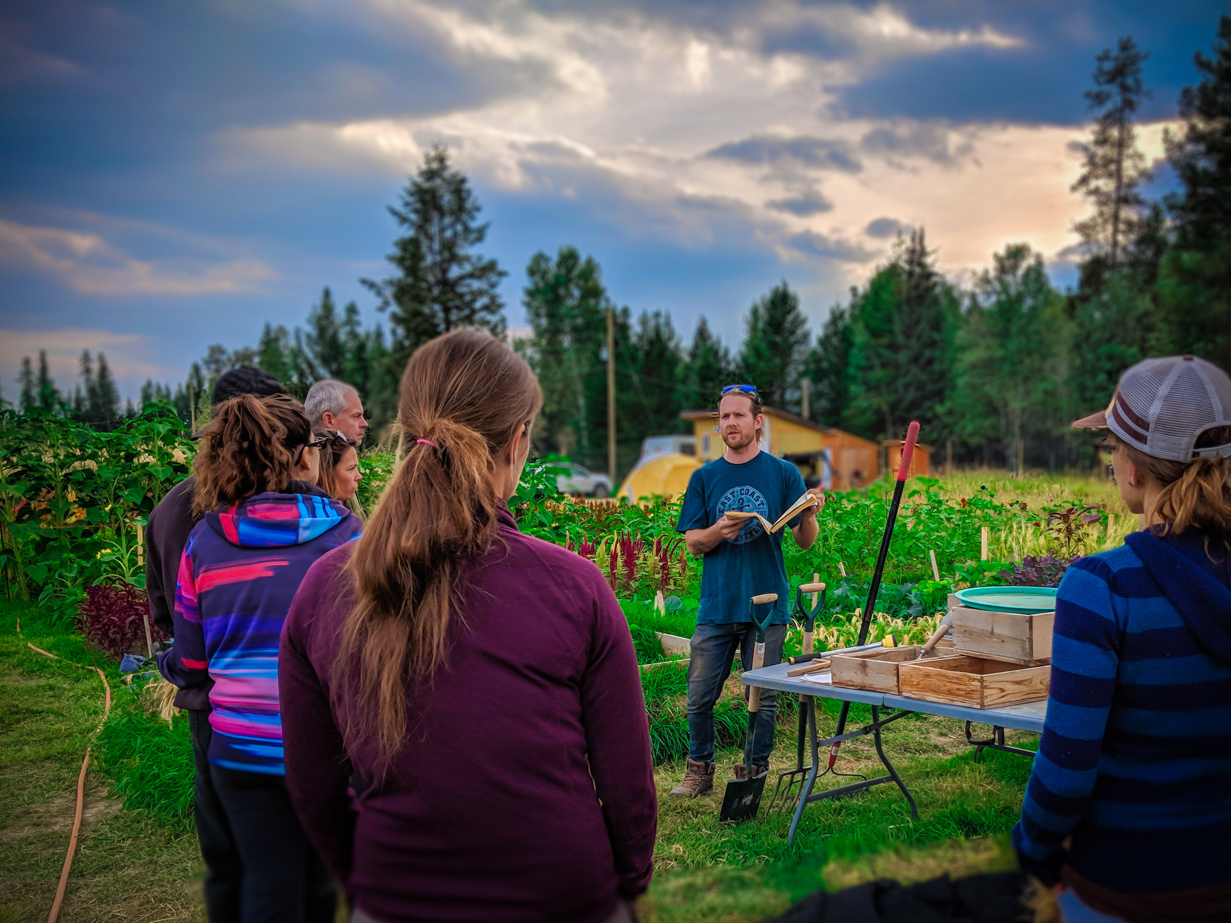 During the tour - we'll discuss the 8 principles of Grow Biointensive mini-farming, host a Q & A session, and provide a free skill building workshop with demonstration of GB techniques!
