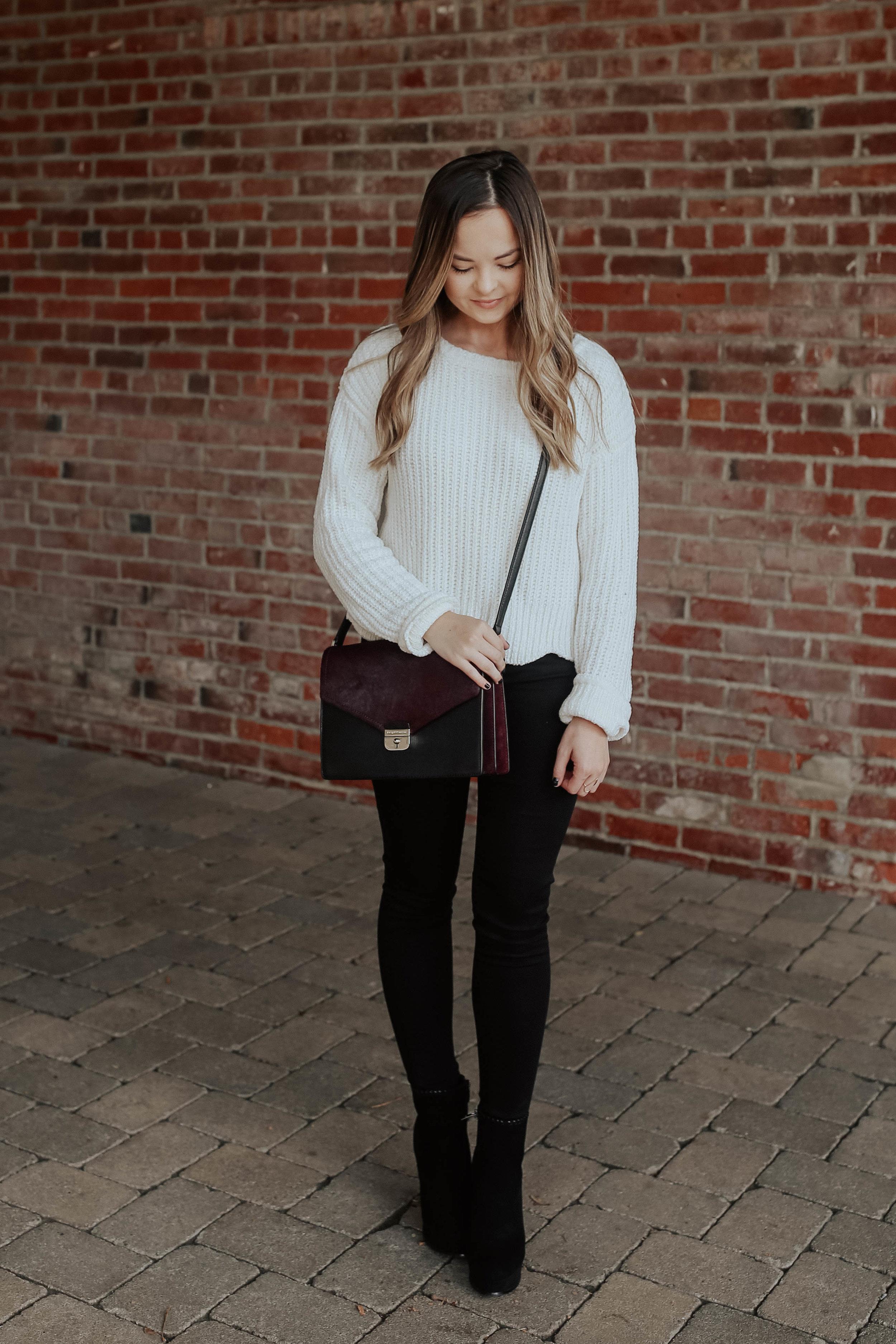 shop this look: - sweatersimilar bagsimilar ringsimilar shoes - here and here