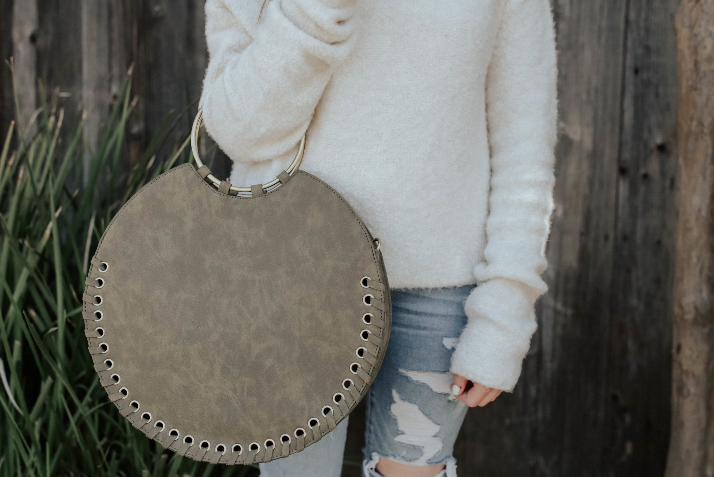 shop this look: - sweater (mine is in ivory)jeansbagsunniesshoes